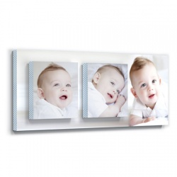 baby wall decor - Posh Blue Plaid