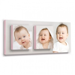 baby wall decor - Posh Pink Plaid