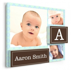 baby wall decor - Astonished Argyle Boy