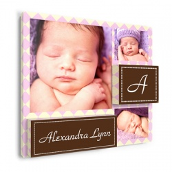 baby wall decor - Astonished Argyle Girl