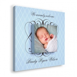 Blue Trellis -  baby wall decor