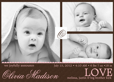 Birth Announcements, Truffle Love Design