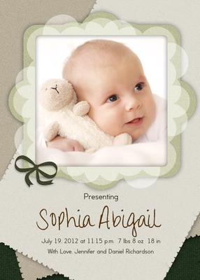 Birth Announcements, Patchwork Quilt Design
