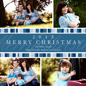 Blue Stripe Christmas