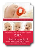 Infant Holiday Birth Card  - Santa Baby