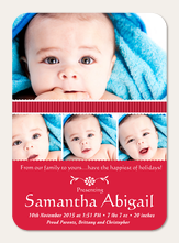 Holiday Birth Announcements - Santa Baby