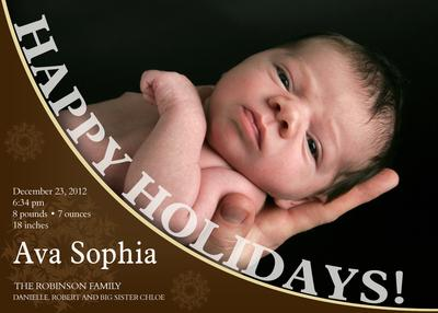 Birth Announcements, Holiday Baby Love Design