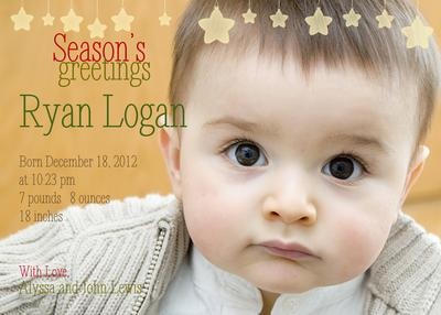Birth Announcements, Season's Stars Design