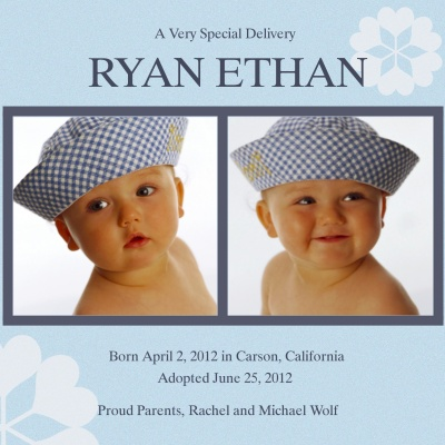 Birth Announcements, Special Delivery Design