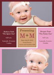 Twin Photo Birth Announcements - Double Daughter Joy
