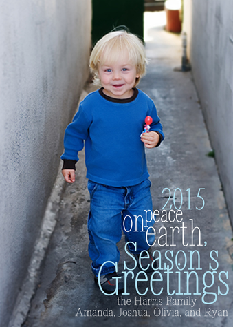 Personalized Holiday Cards, Picture Peace Design