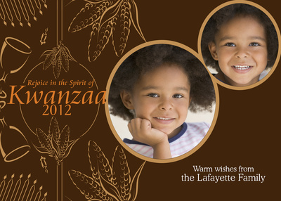 Personalized Holiday Cards, Kwanzaa Cornucopia Design