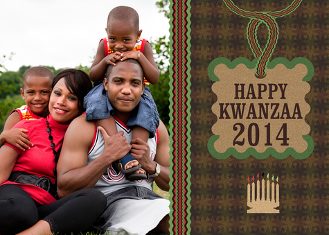 Personalized Holiday Cards, Kwanzaa Twist Design