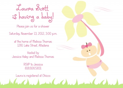 Baby Shower Invites , Flower Girl Design