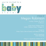 Baby Shower Invites - What a Stripe!