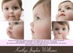 Girl Photo Birth Announcements - Happy Faces