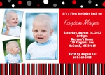 Boy Birthday Invitations - Red Cherry Bash