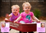Twin Birth Announcements - On Their Way!