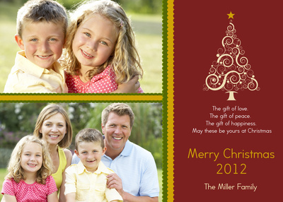 Personalized Holiday Cards, These Three Gifts Too Design