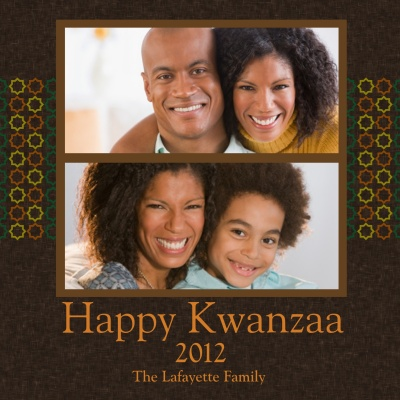 Personalized Holiday Cards, Two Kwanzaa Jewels Design