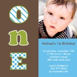 Birthday Invitations - Number One Boy