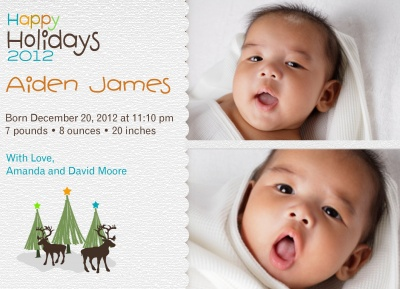 Birth Announcements, Mountain Scene Design