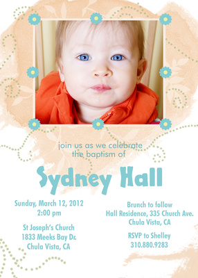 Baptisms & Christening Invitations, Day of Love Design