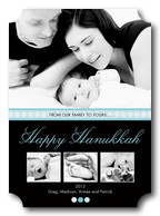 Hanukkah Lights - Hanukkah photo cards