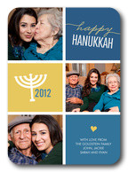 Family Menorah -  Hanukkah cards