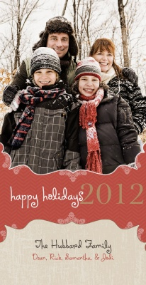 Personalized Holiday Cards, Holiday Curls Design