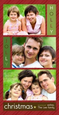 Personalized Holiday Cards, Christmas Jolly Design
