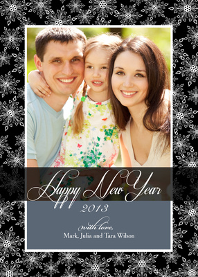Personalized Holiday Cards, Snowflake Sparkle Design