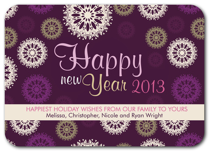 Personalized Holiday Cards, Wineberry Whimsy Design