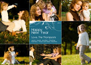 Six Times Happy -  happy new years cards