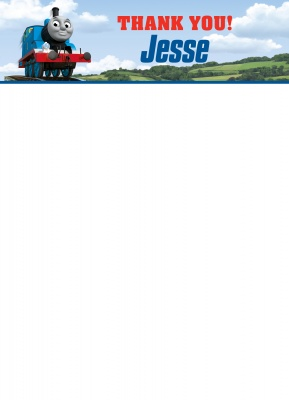 Thomas the Tank Engine Thank You Cards, Welcome to Sodor Design