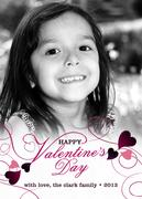 Valentine Photo Cards - Royal Purple Hearts