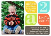 Let's Party Blue - Boy Birthday Invitations