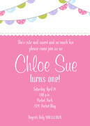 Sweet Banners -  Girl Party Invitations
