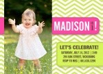 Birthday Party Invitations - Chevron Sweet