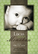 Ribbon Beauty -  Birth Announcements for Boys