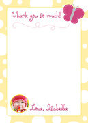 Butterfly Girl - Kids Thank You Cards