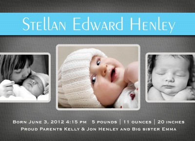 Birth Announcements, Sterling Blanket Design