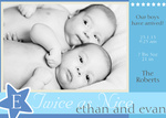 Twin Stars -  Twin Birth Announcements