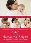 Santa Baby -  Christmas Birth Announcement Cards