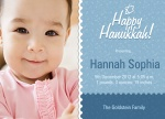 Hanukkah Flower - Holiday Birth Announcement Cards
