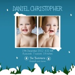 Sweetest Snowscape - Holiday Birth Announcement Cards