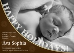 Holiday Baby Love -  Christmas Birth Announcement Cards
