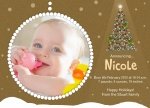 Bright Holiday Star -  Christmas Birth Announcement Cards