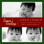 Precious Gift - Holiday Birth Announcement Cards