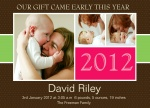 New Year's Bliss -  Christmas Birth Announcement Cards